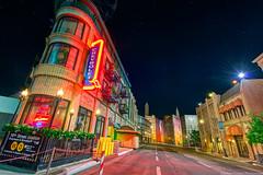 Streets of America (TheTimeTheSpace) Tags: newyork chevrolet brooklyn night stars nikon disney disneyworld waltdisneyworld hdr d800 streetsofamerica hollywoodstudios