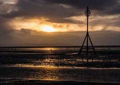 The Gift (jon_mc75) Tags: uk sunset sun beach water clouds liverpool 2014 crosbybeach jonmcgrath uploaded:by=flickrmobile flickriosapp:filter=nofilter week1thepresent redeyephotographynetwork 52weeksatredeye fyophotography