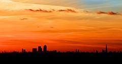 Silhouetted London (TS446Photo) Tags: city sky orange sun london tower silhouette set clouds plane aperture nikon o2 aeroplane wharf dome docklands nik canary shard essex silhouetted afs dx 70200mm d4s d7000 ts446 vision:sunset=096 vision:clouds=0781 vision:outdoor=0849 vision:sky=0961