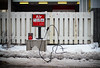 (A Great Capture) Tags: winter red white snow toronto ontario cold fence air hose gasstation pump westend on lhiver ald ash2276 ashleysphotoscom ashleylduffus