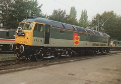 """Railfreight Distribution International Class 47/3, 47375 """"Tinsley Traction Depot Quallity Approved"""" (37190 """"Dalzell"""") Tags: spoon international crewe duff openday rfd class47 railfreightdistribution brush4 47375 class473 electricdepot tinsleytractiondepotquallityapproved"""
