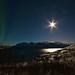 Northern Lights at moon shine
