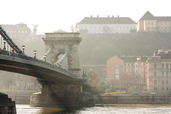 a lazy Saturday afternoon (crybaby75) Tags: fog canon photography hungary day traffic taxi budapest foggy saturday silence pollution photowalk bigcalm danube 2014 budacastle chainbridge 1000d canoneos1000d