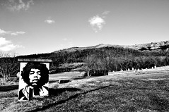 Jimmy. (The Hypnoflip Invasion) Tags: blackandwhite jimmy hendrix auvergne