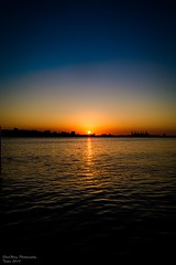(ShiroWengPhotography) Tags: blue sunset red sea sun cold colour night seaside warm taiwan  taipei