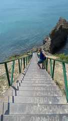 De trap naar het strand