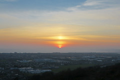 Sunset over Port Talbot (Not Far From Here) Tags: southwales wales factories steelworks porttalbot steelindustry industrialtown industrialsunset factoriesatnight