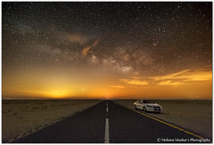 014 - Rise of Milkyway - Salmi Desert, Kuwait (Mobeen Mazhar) Tags: sunset beach night clouds sunrise star evening desert galaxy kuwait souq milkyway sharq fintas messila mahboula salmi