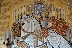 """Montdidier (Somme) - Htel de Ville - La salle du Conseil municipal et des mariages - """"Didier, roi des Lombards"""" par Maurice Picaud (Morio60) Tags: hoteldeville 80 picardie artdco somme picaud montdidier"""
