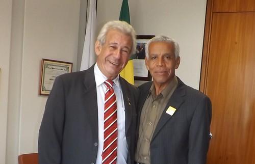 Deputado Antônio Roberto e o prefeito de Engº Navarro, Paulo Afonso dos Santos