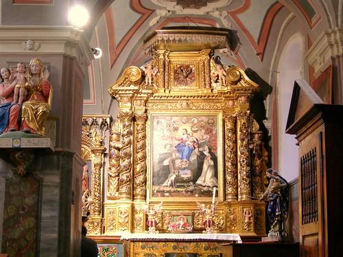 Avrieux, église St-Thomas Becket, retable Rosaire - © D.Dereani, Fondation Facim (3)