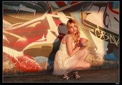 nEO_IMG_DP1U1570 (c0466art) Tags: portrait motion art beauty pose bride pretty outdoor ruin blond attractive cloth charming elegant russian yuna goegeous