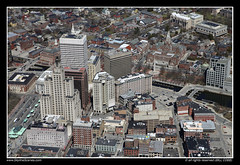 Above Downtown Providence (SkylineScenes (Bill Cobb)) Tags: city urban skyline downtown cityscape aerial providence rhodeisland supermanbuilding 111westminsterstreet