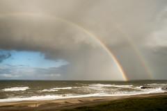 Himmel ber Dnemark (lichtschacht-kiel) Tags: sky nature water rain landscape licht meer wasser day himmel northsea landschaft dnemark danmark nordsee xpro1 fuji14mm