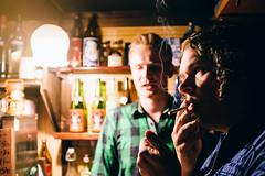 Smoke free. (MLuotio) Tags: men japan bar night tokyo lowlight pub fuji smoking velvia lightroom vscofilm x100s