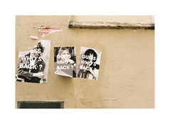 Guess who's back? (Punkroyaltiger) Tags: paris france film wall analog 35mm nikon cobain posters streetphoto johnlennon pattismith