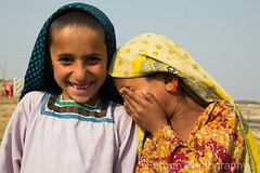 Untitled (Fotoqan) Tags: girls pakistan india colors smiling kids children happy happiness afghan laughter sindh balochistan