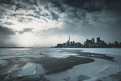 Frigid (seango) Tags: winter 6 toronto ontario canada cold ice skyline architecture clouds landscape frozen nikon downtown cityscape cntower weekend january freezing lakeontario nikkor f28 tdot hogtown 416 d600 the6 1424mm seango 6side