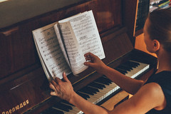 6 (Synergetics) Tags: portrait musician music woman beauty look hands emotion russia blueeyes piano teacher siberia blonde synthesizer krasnoyarsk vsco