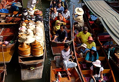 Just passing through (leewoods106) Tags: trip travel blue red people holiday green beautiful hat yellow river thailand boats photography boat photo holidays asia southeastasia photographer traffic photos bangkok markets cap journey thai traveling motorboat floatingmarket strawhat traveler ayutthaya beautifulplaces longtailboats offthebeatentrack riverpeople mustseeplaces