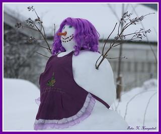 Purple snowlady