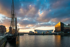 Canning Dock (RoryMac) Tags: sunset water liverpool dock waterfront dusk canningdock