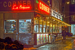 Midnight Snack (michaelelliottnyc) Tags: street nyc newyorkcity food color night lights restaurant cityscape manhattan tacos