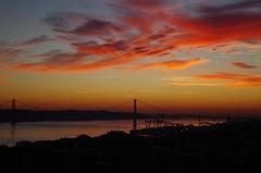 IMGP3607 Lisbon Sunset from the castle (kevin_livesey) Tags: sky bridge lisboa lisbon sunset castelo de sao jorge castle portugal ponte 25 abril