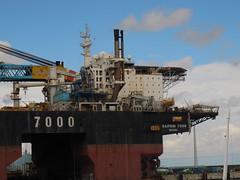 Saipem 7000 (juliank1990) Tags: crane offshore vessel gas oil accomodation exhaust 7000 eemshaven saipem sscv