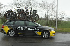 JLT Condor (Steve Dawson.) Tags: road uk england cold wet bike race canon eos is yorkshire cycle tdy april spare usm ef28135mm condor damp 29th uci 2016 jlt f3556 50d ef28135mmf3556isusm canoneos50d teamcars tourdeyorkshire harswell