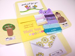 MORE STICKY things for your planner/journal swap (Jogilus Handmade) Tags: mail happymail handmade cutemail cat envelope pastel yellow purple washi washitape decotape sticker stickers flower flowers snailmail swap swapbot snail happy parcel post