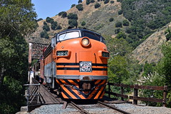 WP at Farwell (caltrain927) Tags: california ca pacific railway canyon western locomotive wp farwell association pla niles f7 emd f7a ncry