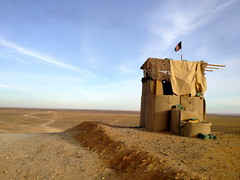 ANA Outpost, Helmand (SunnyInKabul) Tags: afghanistan army flag soldiers outpost garmsirdistrict
