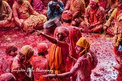 Barsana Nandgaon Lathmar Holi Low res (38 of 136) (Sanjukta Basu) Tags: holi festivalofcolour india lathmarholi barsana nandgaon radhakrishna colours