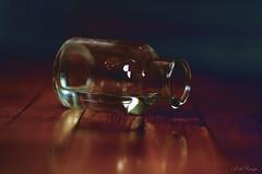 Esencia (A. del Campo) Tags: stilllife water glass bottle madera agua nikon waterdrop bokeh bodegn nikkor cristal botella suelo composicin nikkor18105mm nikond7000