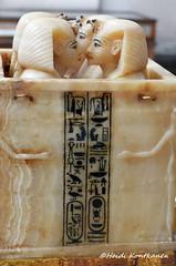 Tutankhamon canopic chest (konde) Tags: art chest tomb goddess 18thdynasty hieroglyphs valleyofthekings ancientegypt tutankhamun cartouche alabaster tutankhamon cairomuseum newkingdom canopic kv62