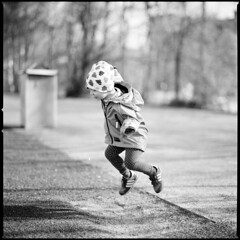 Flying (swedish silver) Tags: fly frozen kid jump dof bokeh trix queen hasselblad f2 shallow 110mm imacon 202fa