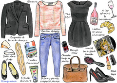 2013 How to live like a French girl (Cindy Mangomini) Tags: fashion illustration pen ink watercolor french drawing watercolour frenchstyle parisian handdrawn frenchgirl frenchwomen parisienne fashionillustration frenchfashion fashiondrawing mangomini hellogiggles cindymangomini howtobeparisian illustratedhowto
