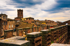 Medieval Siena (Arutemu) Tags: city italien italy architecture canon landscape town italian europe italia cityscape view zoom perspective eu ciudad it medieval tuscany vista siena toscana townscape tamron renaissance  ville  6d 28300 torredelmangia       tamron28300   eos6d    canon6d