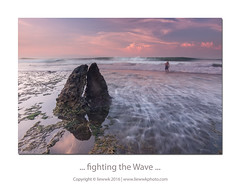 ... fighting the Wave ... (liewwk - www.liewwkphoto.com) Tags: bali beach rock sunrise indonesia dawn fisherman wave nd pantai cpl photohunter rgnd liewwk liewwknature liewwkphotohunters