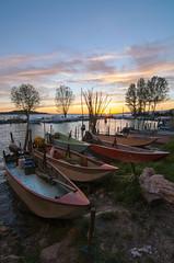 La rimessa (LucaPh) Tags: sunset lake landscape boats landscapes boat nikon tramonto natura barche paesaggio trasimeno allaperto