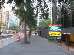 Beekman Theater - first time without a construction fence since forever 1474 (Brechtbug) Tags: ocean new york city nyc sea fish streets film water june fence computer movie poster marquee construction theater finding time theatre first disney since line billboard lobby 2nd story pixar animation billboards forever animated aquatic avenue without dory between based marquees the 66th beekman standee 67th 06182016