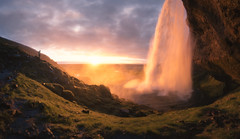 The Dreamer (Ole Petter Rust Photography) Tags: sunset cliff man nature landscape waterfall iceland outdoor human