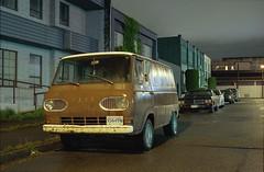 Ford (Orion Alexis) Tags: old ford film night vancouver analog 35mm vintage kodak retro east 400 fujifilm hastings analogue van eastvan ultramax tx1
