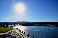 Wishing you each a Happy Sunday & Memorial Day. (Roland 22) Tags: chattanooga tennessee tennesseeriver reflection sun shadow flickr light blue