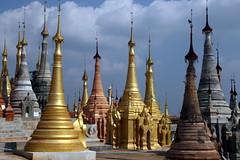 Pagodas Galore (Alan1954) Tags: holiday burma buddhist temples myanmar inlelake pagodas 2016 platinumheartaward platinumpeaceaward