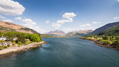 Loch Leven (Joe Dunckley) Tags: uk bridge sea summer sky mountain nature water landscape scotland spring highlands bluesky glencoe inlet fjord ballachulish lochaber westhighlands scottishhighlands lochleven sealoch papofglencoe ballachulishbridge