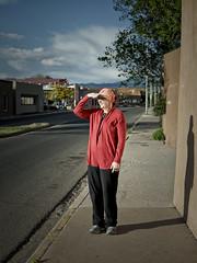 V in Santa Fe, New Mexico (vrot01) Tags: portrait newmexico santafe candid olympus 25mm em10markii 25f17