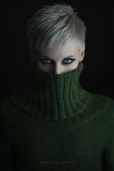 Turtle Neck (photobypawelp) Tags: light portrait people woman green art love girl face fashion female hair photography glamour eyes nikon pretty ambientlight fineart naturallight getty elegant gettyimages nationalgeographic windowlight portaiture artphotography expresion effection greatphotographers polishphotographer nikond800 photobypawelp pawelpentlinowski