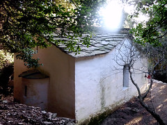 Lost chapel (back side) (angeloska) Tags: church nature architecture forest lost secret religion ikaria aegean chapel greece hikingtrails    opsikarias